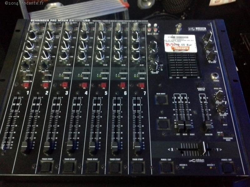 table de mixage behringuer pro mixer dx2000usb 7 piste la trocante d posez et encaissez. Black Bedroom Furniture Sets. Home Design Ideas