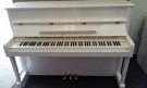 PIANO DROIT STEINER LAQUE BLC CADRE METAL / ETAT NEUF