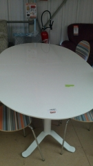 DR TABLE OVALE LAQUEE BLANC