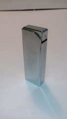 BRIQUET GAZ RECHARGEABLE CHROME RECTANGLE