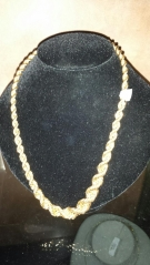 21.5G OR750 COLLIER MAILLE TORSADE