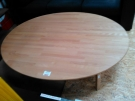 TABLE BASSE HETRE OVALE