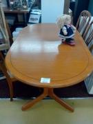 TABLE TECK OVALE+ALLONGE+4CHAISES