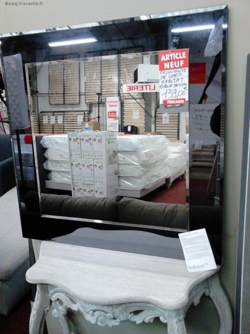 Miroir habitat model lay la trocante d posez et encaissez for Miroir habitat