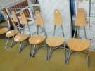 JN SERIE 6 CHAISES DISIGN MODERNE  METAL BOIS