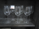 LOT 6 VERRES PIED GM CRISTAL