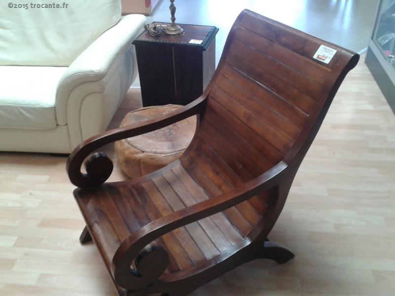 fauteuil planteur bois exotique la trocante d posez et encaissez. Black Bedroom Furniture Sets. Home Design Ideas