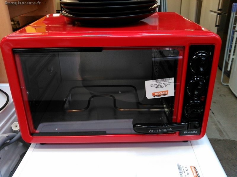 mini four rouge multi fonction white brown acc l15 la. Black Bedroom Furniture Sets. Home Design Ideas