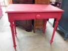 TABLE BUREAU 1 TIROIR FRAMBOISE
