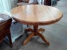 TABLE RONDE PIN ALLONGE CENTRALE
