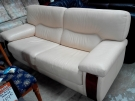 CANAPE 3 PLACES CUIR BEIGE