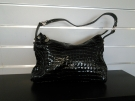SAC A MAINS POURCHET NOIR BRILLANT