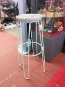 TABOURET BAR METAL OSIER AN.50