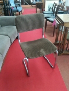 SERIE 6 CHAISES TUBE ASSISE TISSUS