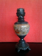 PIED DE ALMPE A PETROLE SANS VERRE DECOR ASIATIQUE