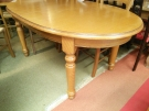 TABLE OVALE PLAQUAGE CHENE GM + 1ALL