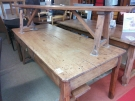 TABLE FERME 1T +2 BANCS ANCIEN