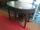 TABLE GUERIDON OVAL 1T FONCE