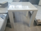 TABLE CARRE LAQUE BLANCHE