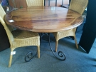 TABLE RONDE PEID FER FORGE BOIS EXO