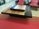 TABLE BASSE CARREE BOIS EXOTIQUE 120X120 ACCACIAS