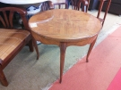 TABLE BASSE RONDE MARQUETTERIE
