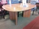 TABLE OVALE +1ALL PLATEAU PLAQUAGE MERISIER PIEDS MELAM