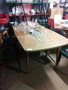 TABLE VINTAGE TONNEAU AN.50 + ALLONGE