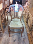 SERIE 6 CHAISES PAILLEES ST LP DOSSIER EVENTAIL