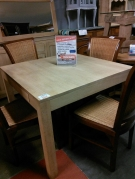 TABLE 1MX1M + 2 ALLONGES EXOT CLAIR