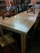 TABLE RECT CHENE 1.4M 0.90 + ALL 0.40 CHENE CLAIR