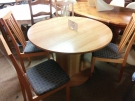 TABLE RONDE 1 ALLONGE+4 CHAISES