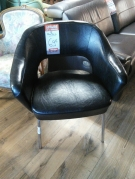 FAUTREUIL SKAY NOIR PIED TUBE