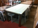 TABLE PLATEAAU BOIS 4 PIEDS METAL TUBE