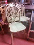 SERIE 4 CHAISES PIN ST ANGLAIS
