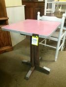 TABLE BISTROT DESSUS FORMICA ROUGE