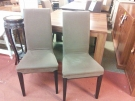 SERIE 4 CHAISES DEHOUSSABLE  TAUPE