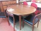 TABLE RONDE+1ALLONGE ST VINTAGE