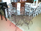 ENSEMBLE TABLE FER FORGE RONDE + 4 CHAISES199