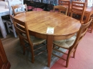 TABLE OVAL MERISIER + 1 ALL