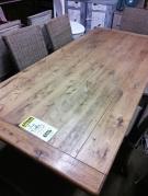 TABLE DE SALLE A MANGER PIED FER FORGE