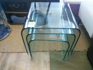 SERIE 3 TABLES GIGOGNES VERRE