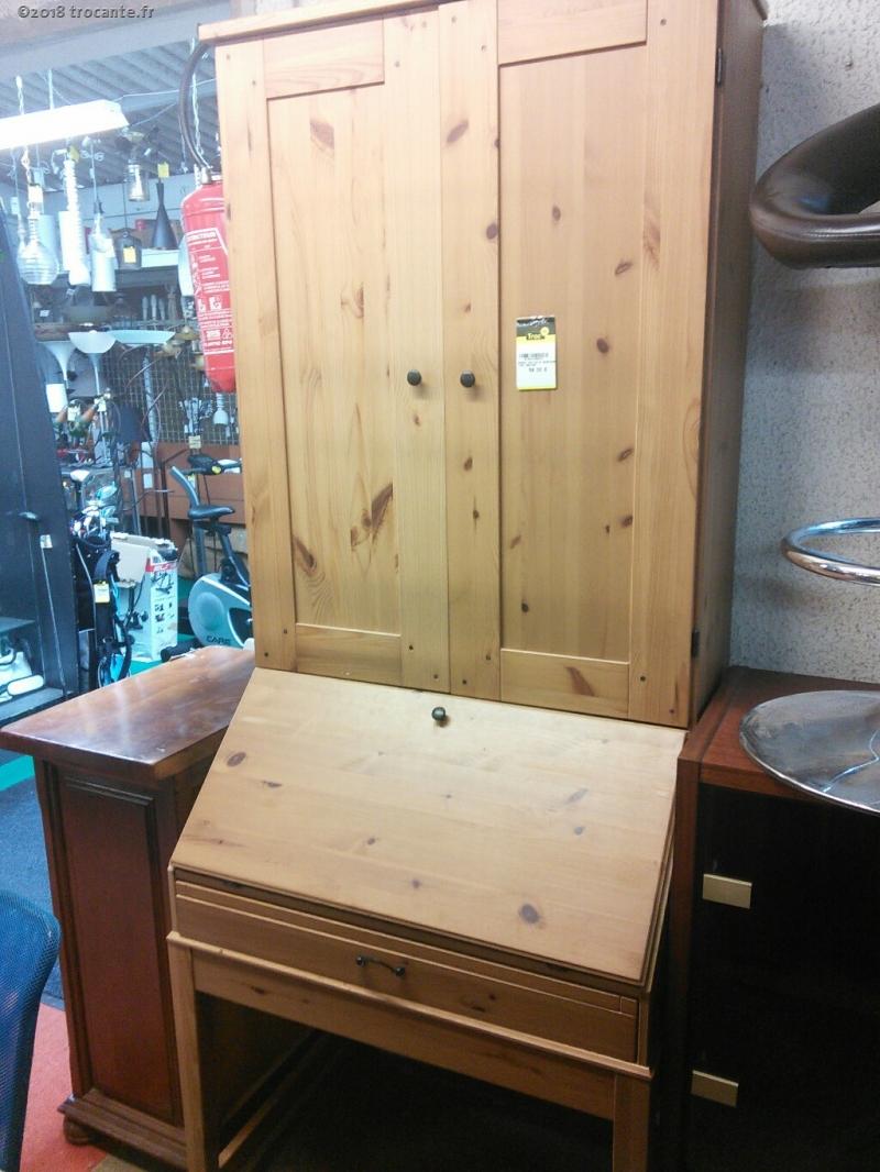Bureau Ikea Pin St Secretaire 1t2p1 Abattant La Trocante