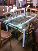 TABLE VERRE PIETEMENT BLC 2ALL