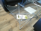 TABLE BASSE VERRE MODERNE STRUCTURE METAL