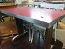 TABLE BISTROT RECT. ROUGE