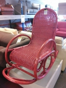 ROCKING CHAIR ROTIN ROUGE
