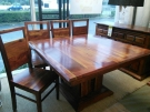 TABLE CARREE ACCACIS+ 1 ALLONGES+ 8 CHAISES