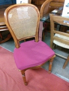 SERIE 4 CHAISES CANNAGE + COUSSINS